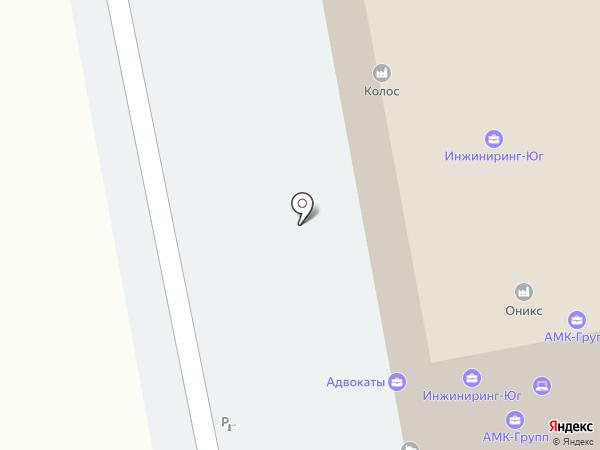 Изотерма на карте Краснодара
