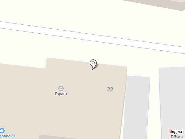 Берг на карте Краснодара