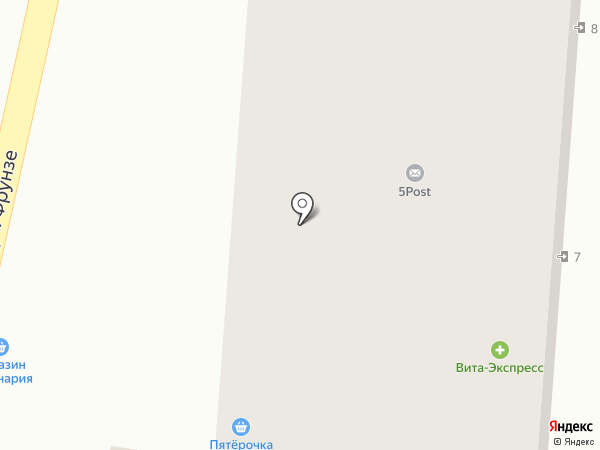 Почтовое отделение связи №3 на карте Туапсе
