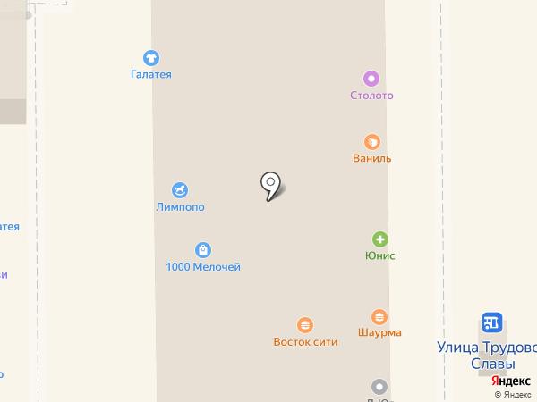 Продуктовый минимаркет на карте Краснодара
