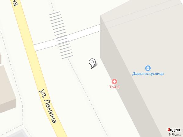 Три-З на карте Туапсе