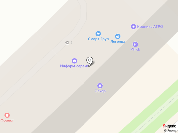 Оскар на карте Туапсе
