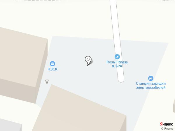 Роза Ветров на карте Туапсе