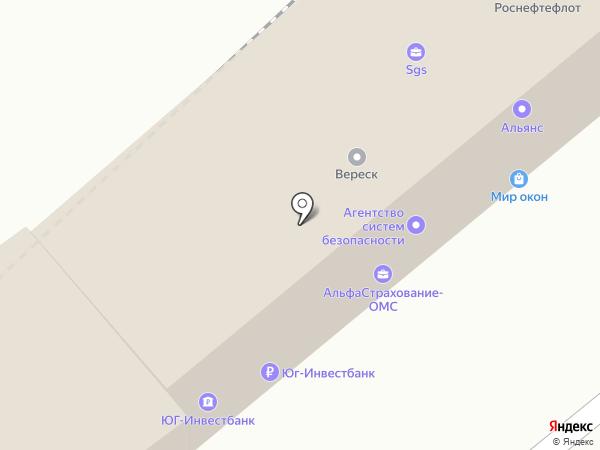 Банкомат, Юг-Инвестбанк, филиал в г. Сочи на карте Туапсе