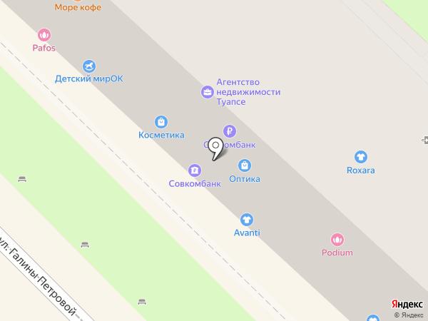 Кокетка на карте Туапсе