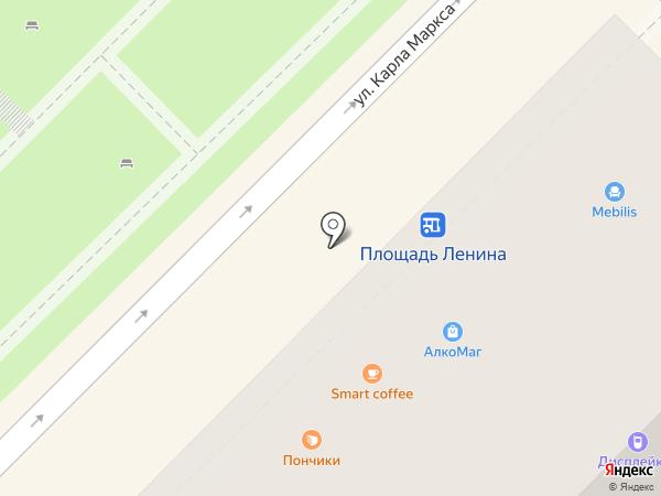 Магазин хлебобулочных изделий на карте Туапсе