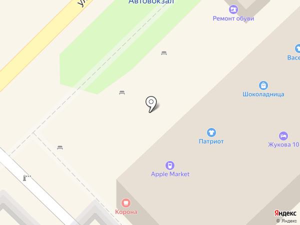 Камуфляж на карте Туапсе