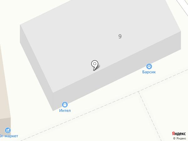 Юг-маркет на карте Краснодара