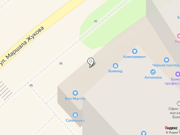 Антилопа на карте Туапсе
