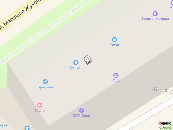 Осьминог на карте Туапсе