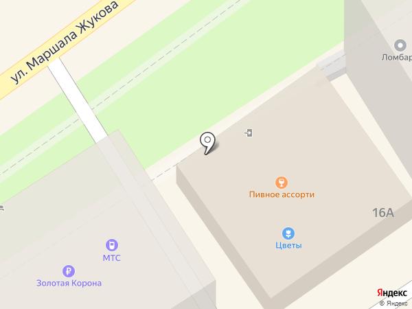 Пинта на карте Туапсе