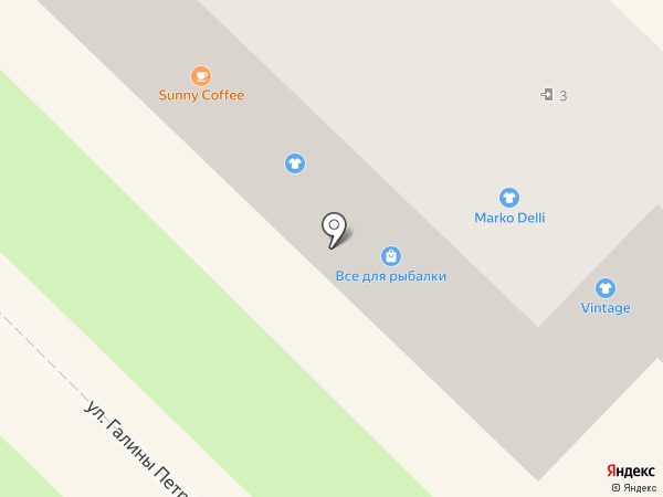 Казанова на карте Туапсе