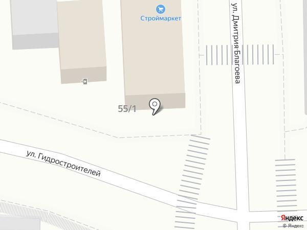 Магазин овощей и фруктов на карте Краснодара