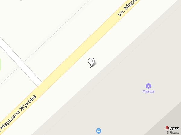 Фрида на карте Туапсе