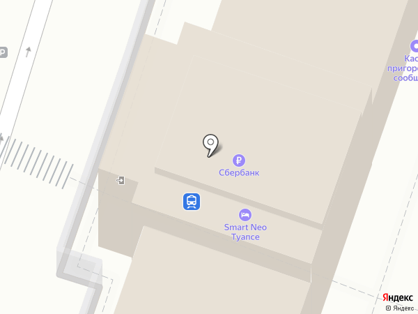 Железнодорожный вокзал на карте Туапсе
