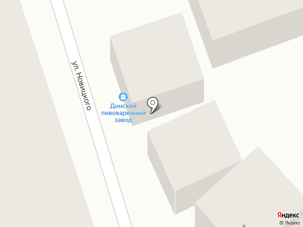 Динской пивоваренный завод на карте Туапсе
