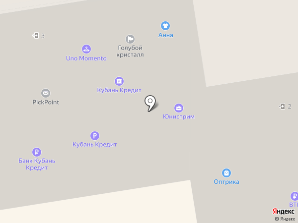 Банкомат, АКБ Банк Москвы на карте Краснодара