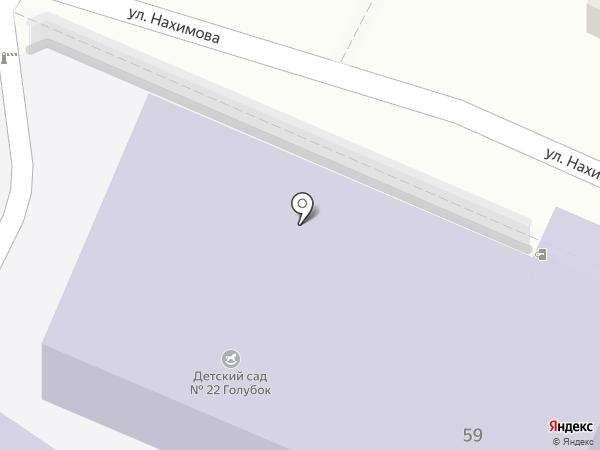 Детский сад №22, Голубок на карте Туапсе
