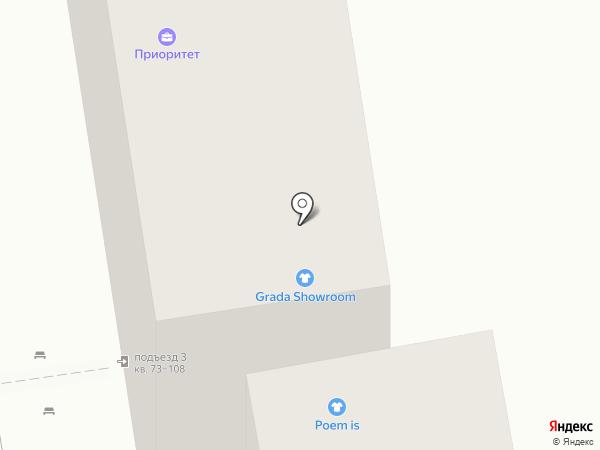 Свiтанак на карте Краснодара