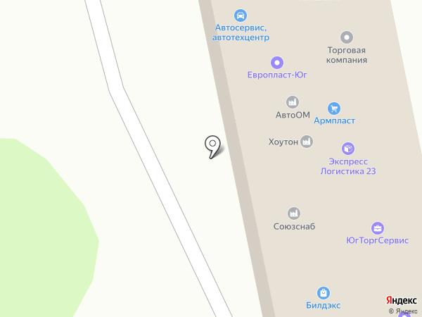 КРАТЭС на карте Краснодара