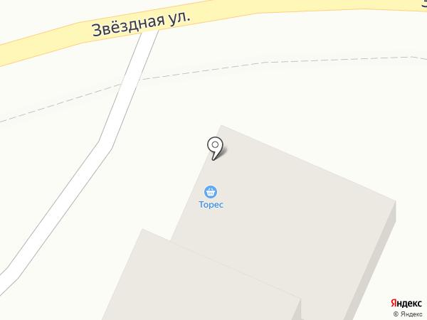 Торес на карте Туапсе
