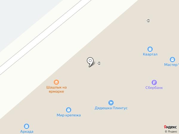 Витязь на карте Воронежа
