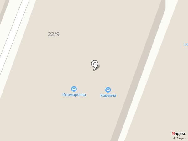 Кореяна на карте Воронежа