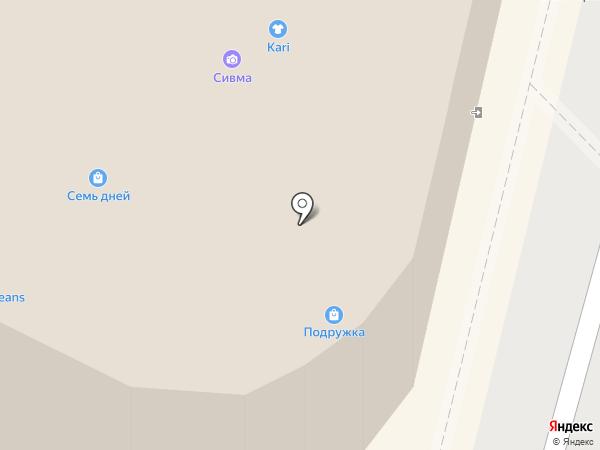Ягуар на карте Воронежа