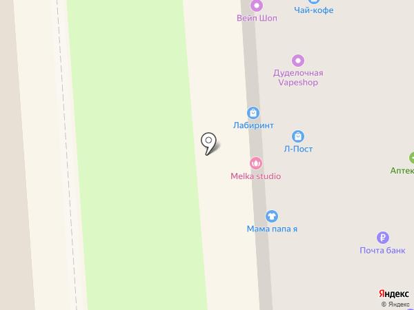 Булавка на карте Воронежа