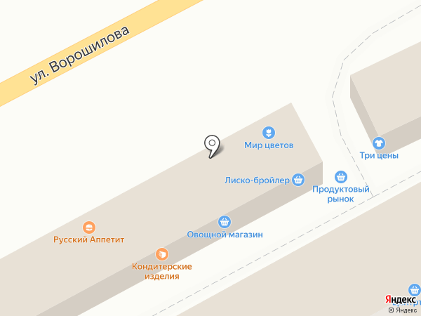 Элика на карте Воронежа