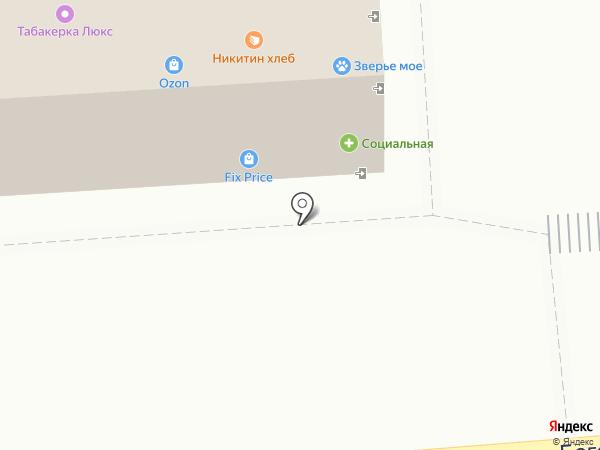 Табакерка на карте Воронежа