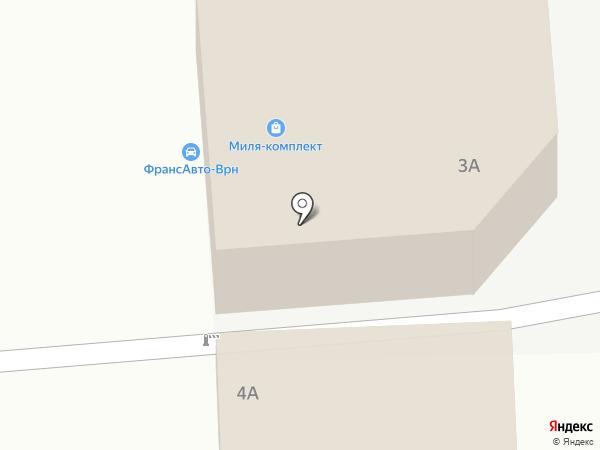 Авто+ на карте Воронежа