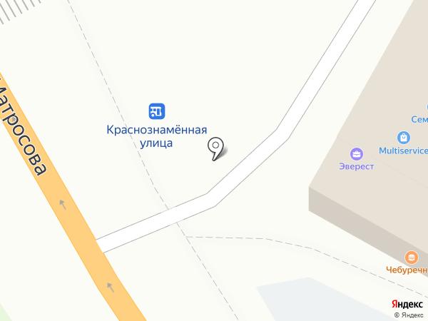 Киоск по продаже выпечки на карте Воронежа