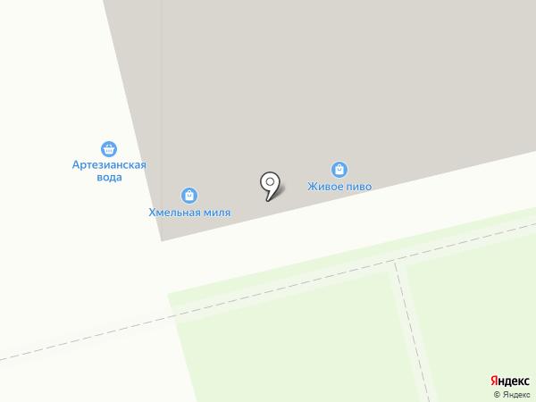 Магазин живого пива на карте Воронежа