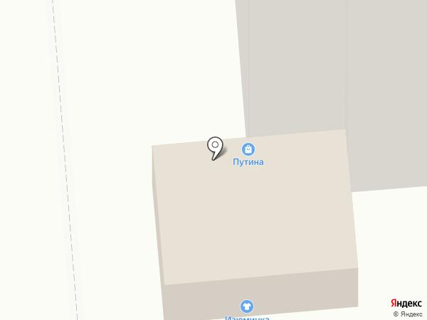 Путина на карте Воронежа