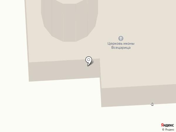 Всецарица на карте Воронежа
