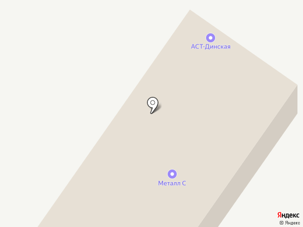 Фергана на карте Динской