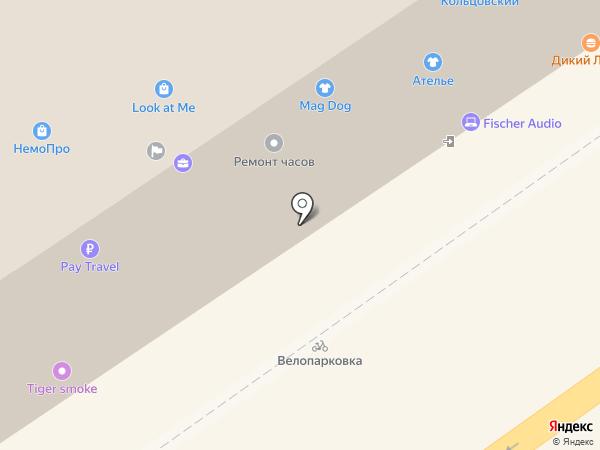 Галатея на карте Воронежа