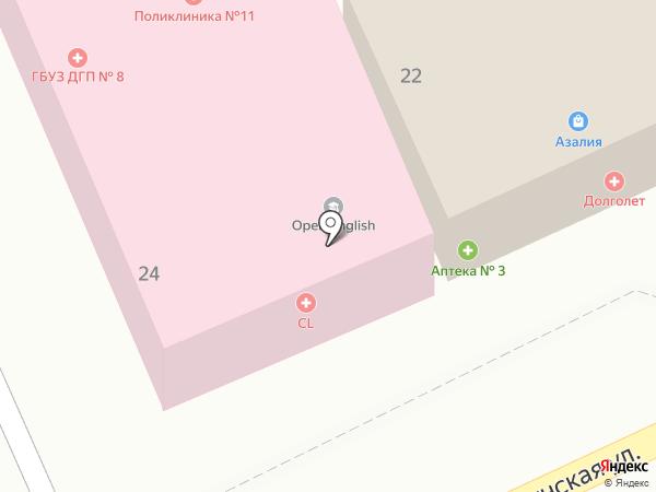 Городская поликлиника №11 на карте Ленины