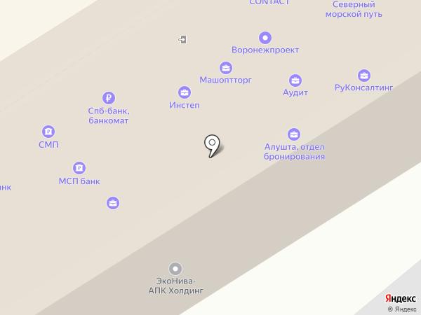 ЮНИСТРИМ на карте Воронежа