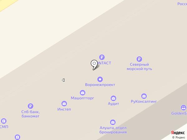 Управление архитектуры и градостроительства Воронежской области на карте Воронежа