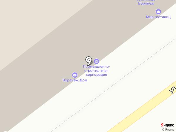 Глухомань на карте Воронежа
