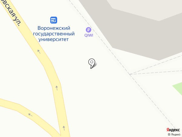 Каблучок на карте Воронежа