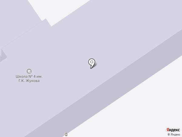 Средняя общеобразовательная школа №4 на карте Динской