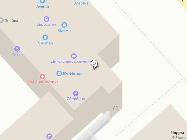 Семицветик на карте Динской