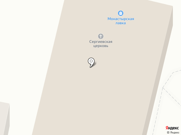 Церковь Сергия Радонежского в Алексеево на карте Воронежа
