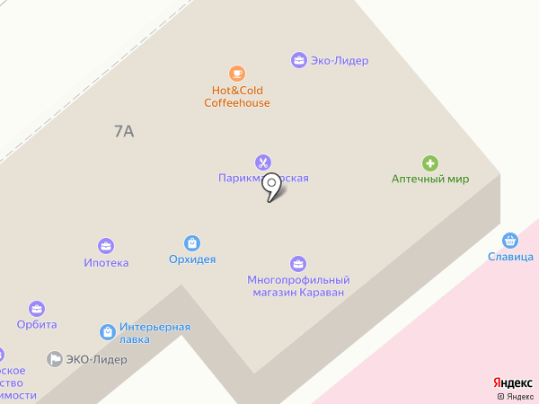 Эскорт на карте Динской