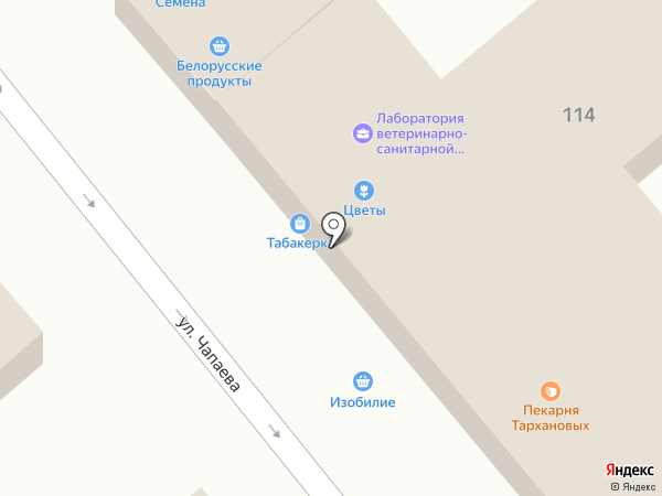 Магазин мясной продукции на карте Динской