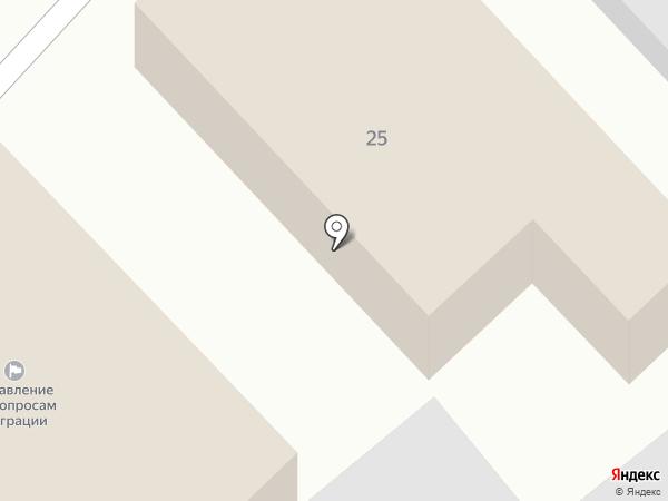 Отдел Управления Федеральной миграционной службы по Краснодарскому краю в Динском районе на карте Динской