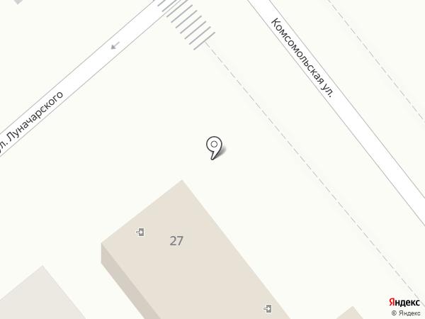 Продуктовый магазин на ул. Луначарского (Динская) на карте Динской